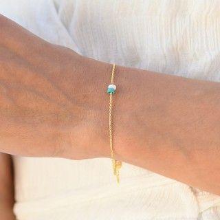 Shades of Ocean silver bracelet