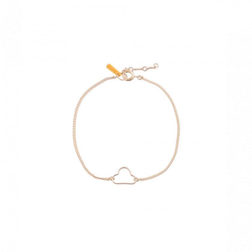Golden cloud brass bracelet