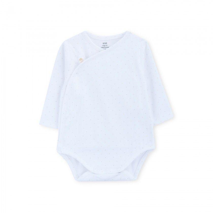 Body manga comprida recém-nascido Seurat