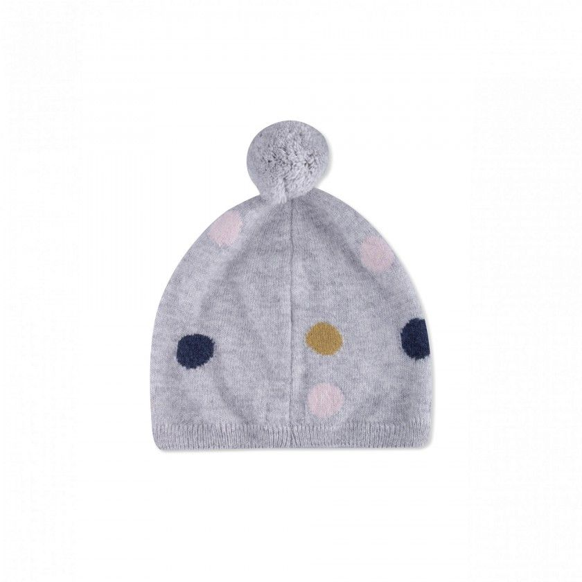 Beanie knitted girl Birdy Dots