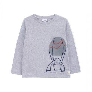 T-shirt manga comprida menino algodão #3 Eco Transport