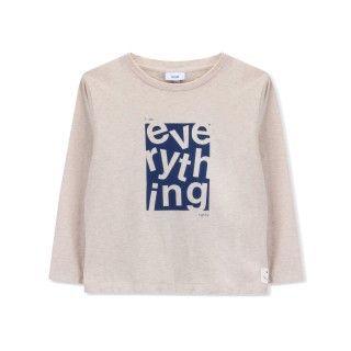 T-shirt manga comprida menino algodão orgânico Everything