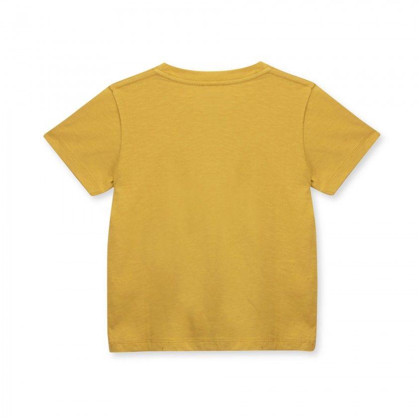 T-shirt manga curta menino algodão orgânico Happy Place