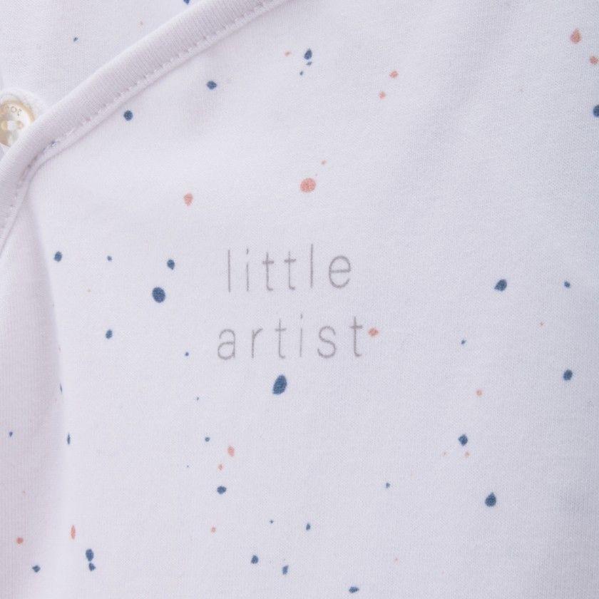 Babygrow newborn organic cotton Little Artist