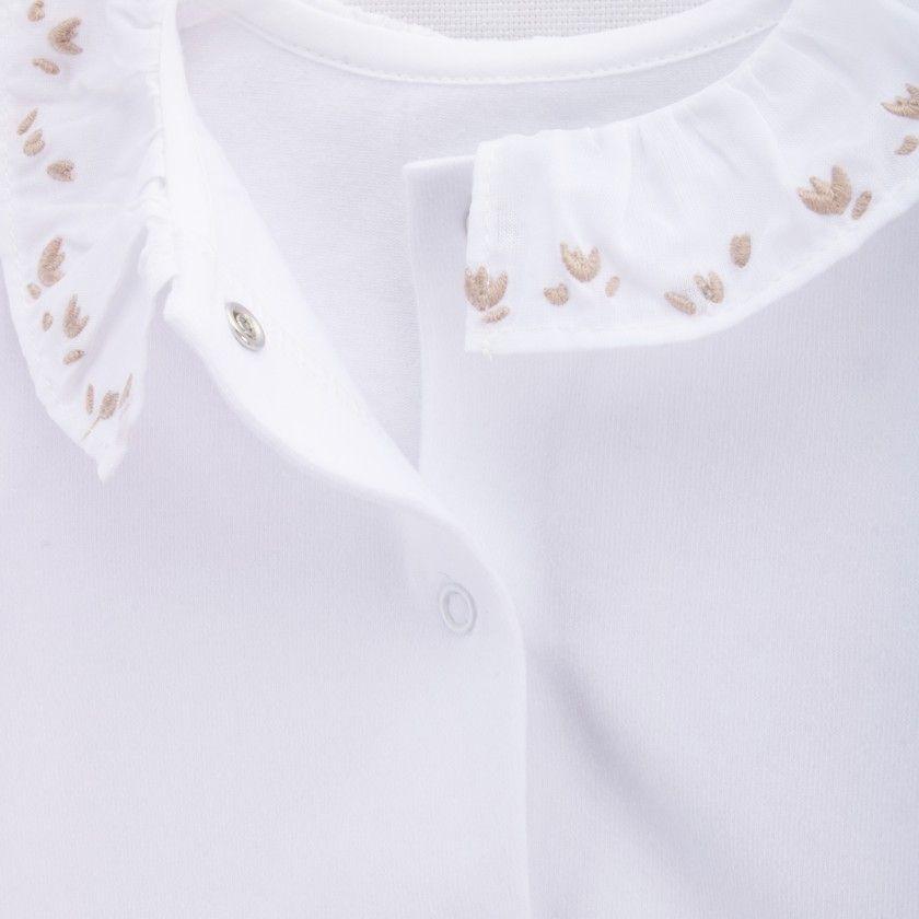 Body manga comprida recém-nascido Flowers All Around
