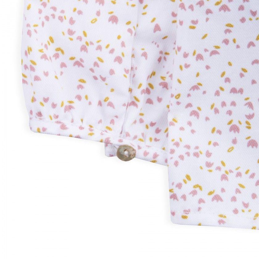 Blouse organic cotton Soft Flowers