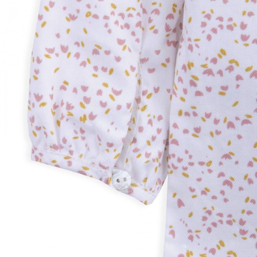 Blusa bebé algodão Soft Flowers