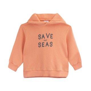 Sweatshirt menino algodão orgânico Save our seas