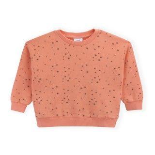 Sweatshirt menina algodão orgânico Flowers