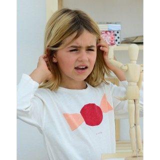 T-shirt manga comprida menina algodão orgânico A Candy