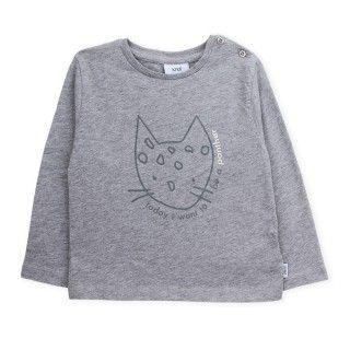 T-shirt long sleeve baby organic cotton Panther