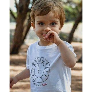 T-shirt short sleeve baby organic cotton Lion