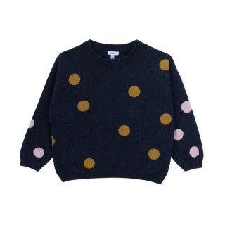 Camisola menina lã Polka Dots