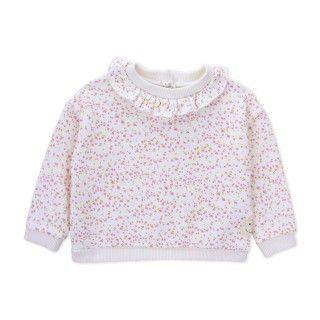 Sweatshirt terry baby Flowers