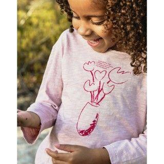 T-shirt long sleeve girl organic cotton Garden Shed